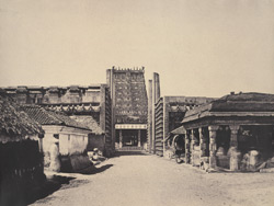The Raya Gopuram from E. [Minakshi Sundareshvara Temple, Madurai]